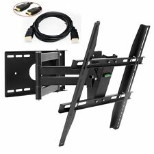 "TV Wall Mount Bracket Swivel Tilt LCD LED 22 28 32 37 40 42"" 46 48 50 HDMI Cable"
