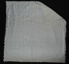 """NEW Baby Doll Bedding Shearling Blanket Ivory 27x26"""" Minky Chenille Polyester"""