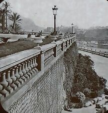 Casino Terraces, Outer View at Monte Carlo, Monaco, Magic Lantern Glass Slide