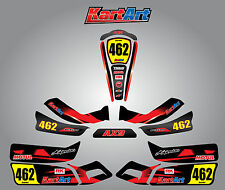Arrow AX9 full custom KART ART sticker kit THUNDER STYLE / graphics / decals