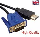 HDMI Male to VGA Male Video Converter Adapter Cable for DVD 1080P HDTV PC -2M