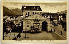 Cartolina Formato Piccolo - Dronero m. 625 - Piazza Littorio E Lapide Dei Caduti