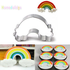 Rainbow Stainless Steel Cookies Cutter Biscuit Cupcake Cake Decor Mould Tools
