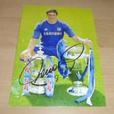 FERNANDO TORRES GENUINE AUTHENTIC SIGNED AUTOGRAPH 6x4 PHOTO CARD CHELSEA + COA