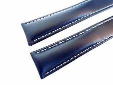 KALBSLEDERBAND blau 22/18 (110/90) speziell passend für Breitling-Faltschließen