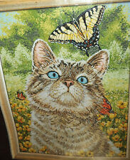 Bucilla Heirloom Collection Counted Cross Stitch Kit Buttercup Cat, NIP