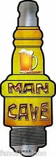 """Man Cave Frosty Beer Novelty Metal Spark Plug Sign 6"""" x 17"""" Wall Decor"""