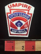 Uniform / Jacket Patch UMPIRE (in RED Letters) LITTLE LEAGUE SOFTBALL 67Z5
