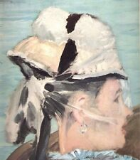 "1960 Art Print ""Head Of The Woman From Boating"" By Edouard Manet Free Shipping"