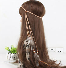 1pcs Boho Indian Feather Headband Tassels Hairband Carnival Hippie Headpiece