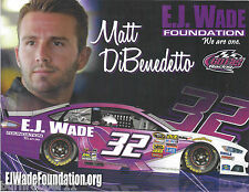 "2017 MATT DIBENEDETTO ""E.J. WADE GO FAS"" #32 MONSTER ENERGY NASCAR POSTCARD"