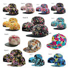 Snapback Hats Floral Adjustable Strap One Size Fits Most