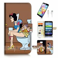 Samsung Galaxy ( S7 Edge ) Flip Wallet Case Cover P3310 Snow White
