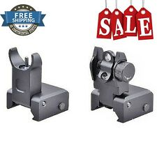 Premium AR Tactical Flip up Front Rear Iron Sights Set Picatinny Transition New