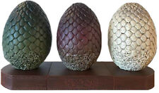 """GAME OF THRONES - Dragon Egg 7"""" x 13"""" Bookends Set (3) by Dark Horse Comics #NEW"""