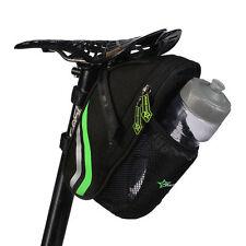 RockBros Cycling Bicycle Rear Seat Bike Saddle Black Water Bottle Black Bag