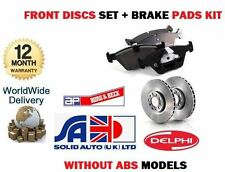 FOR NISSAN ALMERA N15 1995--  WITHOUT ABS FRONT BRAKE DISCS SET + DISC PADS KIT