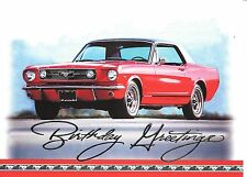 Red Classic Antique Ford Mustang Happy Birthday Greeting Greetings Card