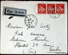 ALGERIE  1931  LETTRE AVION  ALGER TOULON   ENVELOPPE     165CA85