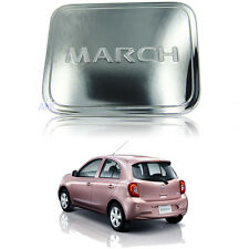 For 2011+ Nissan March Micra Mitsuoka Viewt Fuel Tank Cover Trim Premium Chrome