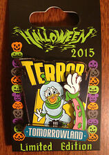 Disney DONALD TERROR TOMORROWLAND Lands Are Haunted Pin Halloween 2015 LE4000