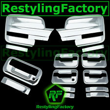 09-14 Ford F150 Chrome Mirror+4 Door Handle+no keypad no keyhole+ Tailgate Cover
