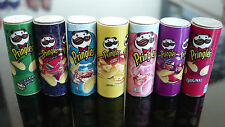 Set of 7 Mix Pringles Packets Dollhouse Miniatures Food Snacks