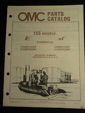 1986 Johnson Evinrude 155 HP Commercial Outboard Parts Catalog Manual FACTORY