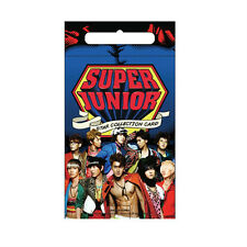 SUPER JUNIOR KPOP KOREAN STAR COLLECTION CARD 10PACK KIT LIMITED + MAGNETIC CARD