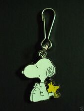 New Snoopy Dog & Woodstock Charm Zipper Pull Clip On Cartoon Character Charm