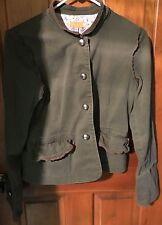 Tulle Anthropologie Jacket Coat Army Green Womens Floral Lining Size L