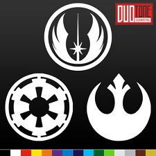 REBEL alliance IMPERIAL galactic EMPIRE Sticker Vinyl Decal Star Wars Car Window
