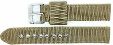 New Condor Extra Long Nylon Canvas Watch Strap Band 20mm Khaki - 112GL