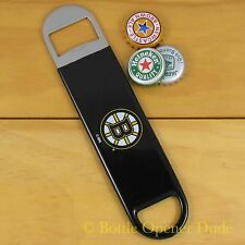 Boston Bruins SPEED, BAR BLADE Bottle Opener Vinyl Coated Steel NHL NEW!!