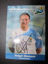 1482 Chemnitzer FC CFC Holger Hiemann 2011 - 2012 original signierte AK