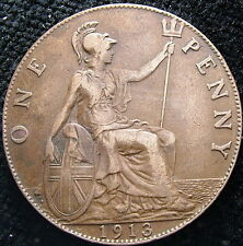1913  United Kingdom   One  penny