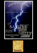 Thin Lizzy concert poster + ticket RDS Dublin Ireland 1983 A3 Repro