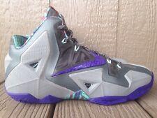Nike Lebron 11 XI Terracotta Warrior Grey/ Purple Men's Size 8.5 -  616175-005