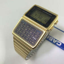 Men's Gold-Tone Casio Databank Telememo Calculator Watch DBC611G-1