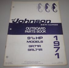 Parts Book Johnson Sea Horse Ersatzteilkatalog 9 1/2 Models 9R71R 9RL71R 1971!