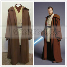 Star Wars Cosplay Obi-Wan Kenobi Jedi Knight Cosplay Costume Outfit All Size