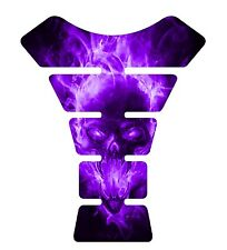 Exploding Skull Purple Motorcycle Gel Gas tank pad tankpad protector Decal