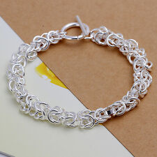 Hot Solid 925sterling silver bracelet Men Fashion jewelry party Xmas gift
