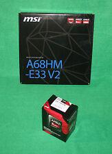 MSI A68HM-E33 FM2 Motherboard + AMD A6-7400K 3.5Ghz APU Processor COMBO Builder