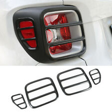 Black Rear Taillight Lamp Cover Trim Frame-Iron For Jeep Renegade 2015-2017