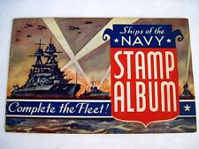"""1942 Patriotic """"Ships of the Navy Stamp Album"""" Complete the Fleet! Gene Tunney *"""