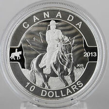 2013 $10 Royal Canadian Mounted Police RCMP .9999 Silver Matte Proof O Canada #3