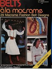 29 macrame fashion belt designs, disco purses - Vintage patterns CP7286