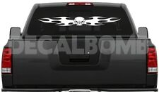 """#002 TRIBAL SKULL windshield anywhere decal / sticker for car truck 40 x 4.5"""""""