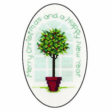 Derwentwater Designs Holly Tree Christmas Card Cross Stitch Kit